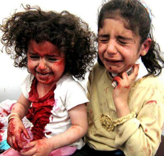 Angels are crying in gaza