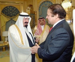 PM Nawaz sharif and King Abdullah of KSA ...happy as pakistan securing saudi intrest in syria.